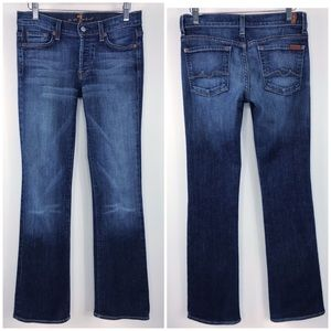 7 For All Mankind Boycut boot cut jeans size 27